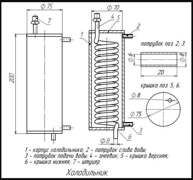 Кожухотрубный холодильник и дефлегматор своими руками: разновидности холодильных установок и их устройство, подробная инструкция и необходимые материалы, принцип работы